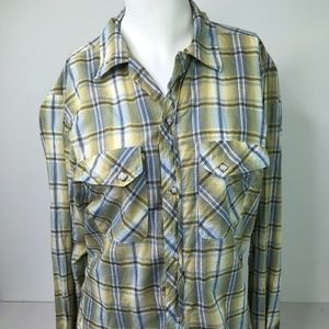 The Cowhand Women's 80's Vintage Blue Plaid PearlS